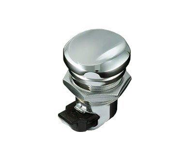 Kuryakyn Push Button Fuel Door Latch for Halrey Davidson 1992-2012 FLHT, FLTR, and FLHX Models