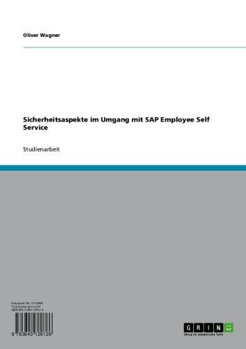Download Sicherheitsaspekte im Umgang mit SAP Employee Self Service (German Edition) Pdf