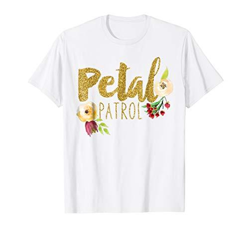 Kids Petal Patrol Shirt Flower Girl Wedding T-Shirt