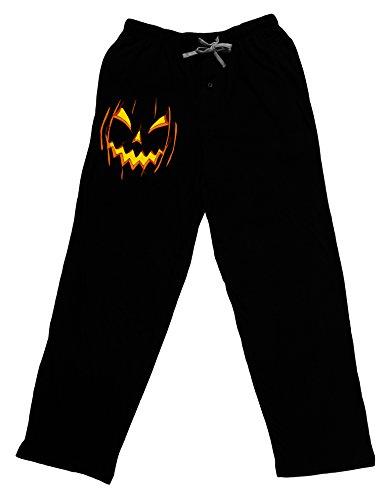 TooLoud Halloween Scary Evil Jack O Lantern Pumpkin Adult Lounge Pants - Black- Large