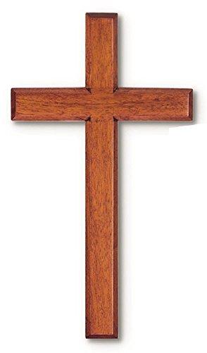 "Solid Mahogany Wood Wall Cross (4"")"