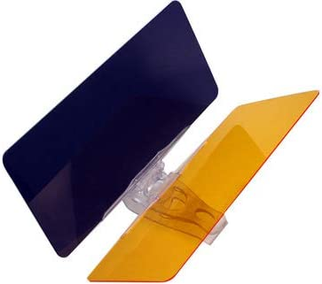 MSA Parasole antiriflesso per auto guida di giorno e notte con cursore con visiera a specchio