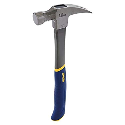 IRWIN Tools 1954889 Fiberglass General Purpose Claw Hammer, 16 oz