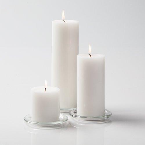 Richland White Pillar Candles Set of 36