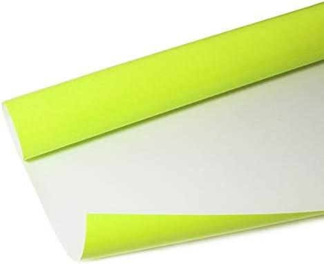Rollos de vinilo de transferencia de calor de poliuretano, vinilo para planchar camisetas HTV, vinilo para Cricut y Silhouette, fácil de malezar y transferir y estirable, color amarillo neón: Amazon.es: Juguetes y