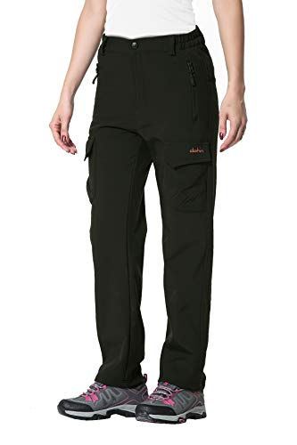 Clothin Women's Fleece-Lined Soft-Shell Cargo Pants - Water-Repellent, Wind-Resistant, Insulated