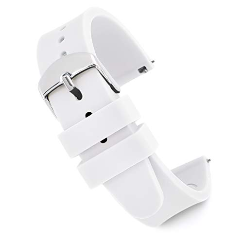 - Speidel Scrub Watch Replacement 18mm White Silicone Rubber Band