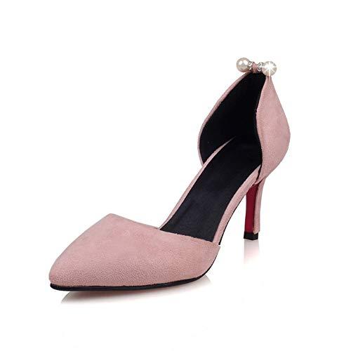 cd2826470bf Con Bombas Hlg Banquete Abiertos Alto Aguja Para Laterales De Sandalias  Boda Pink Ocasional Tacón Y Mujer Zapatos Corte F0dxFwRr