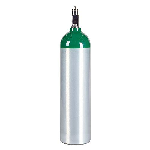 Medical Oxygen Cylinder with CGA870 Post Valve - D Size 14.6 cf (MD) by Varies