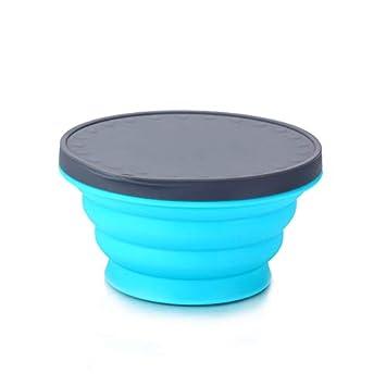 Cuenco de Silicona Plegable para microondas con Tapa, 720 ML ...