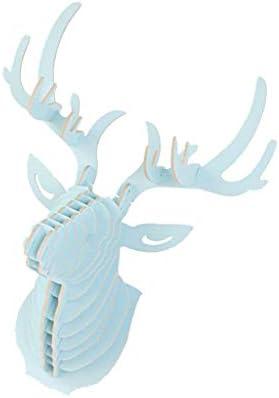 COMFORT INNOVATION Deer Reindeer Animal Head Wall Figurine Hanging Decor Ornament Hook Blue / COMFORT INNOVATION Deer Reindeer Animal Head Wall Figurine Hanging Decor Ornament Hook Blue