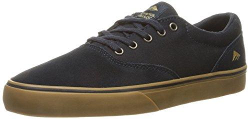 Emerica Provost Slim Vulc Skate Shoe,Navy/Gum,7 M US