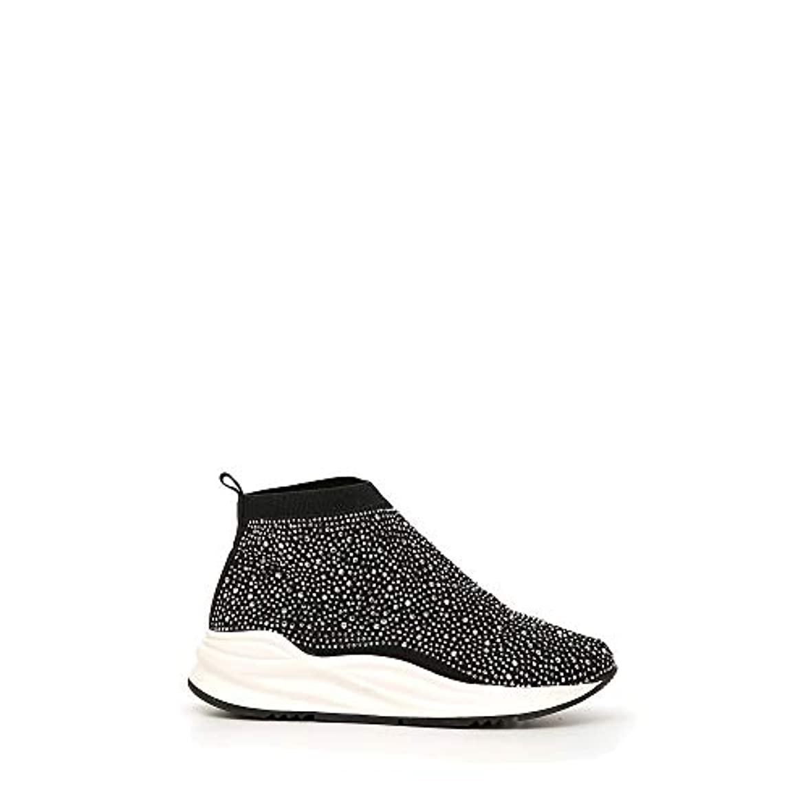 Cafènoir Slip-on Mid Donna In Tessuto Con Strass Da900 35 Eu Nero