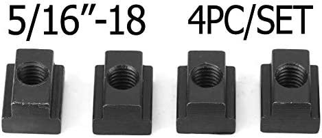 4PC Set T-Slot Nut Black Oxide Finish 5//16-18 Threads
