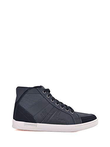 Lumberjack Sneakers Pelle Blu Depbl Uomo Scarpe qOFPwq7