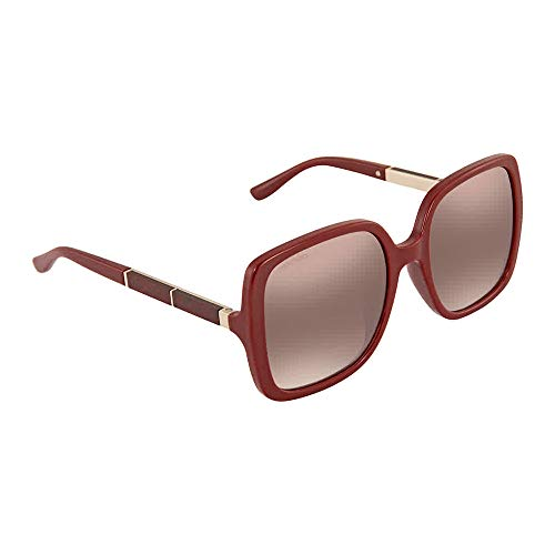 Jimmy Choo sunglasses (CHARI-S LHF/NQ) Dark Bordeaux - Glitter Red - Plum Gradient lenses (Glasses Red Glitter)