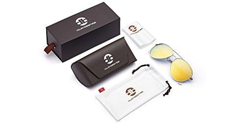 Exclusiva Hombre Plata Sol David Gafas Dorado Polarizadas CLANDESTINE Colección de Aviator Aviator Bisbal Mujer amp; TXxwz
