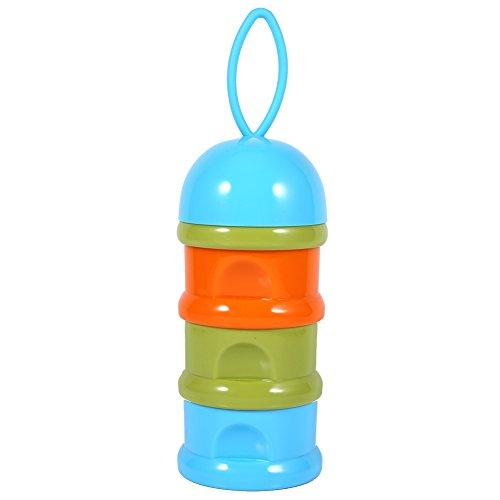 3 capas de leche para bebés portátil de leche en polvo dispensador de fórmula caja de almacenamiento caja de alimentación contenedor ( Color : Azul )