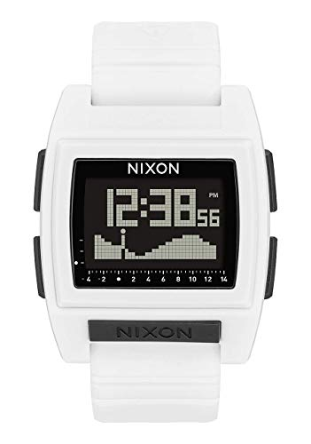 NIXON Base Tide Pro A1213 - White - 101M Water Resistant Men's Digital Surf Watch (42mm Watch Face, 24mm Pu/Rubber/Silicone Band) (Nixon 51 30 Tide Watch)