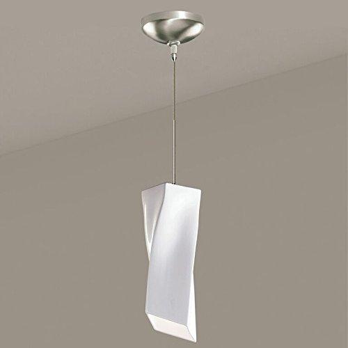 A19 Twister Mini Pendant, 3.75-Inch Width by 11-Inch Height, White Gloss by (A19 Twister Mini Pendant)