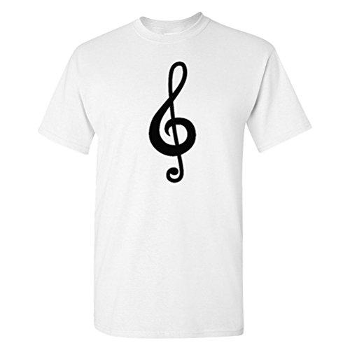 Bass Xl Set (We Match! Treble Clef (Matches The Treble Clef & Bass Clef Set) Adult T-Shirt (White, XL))