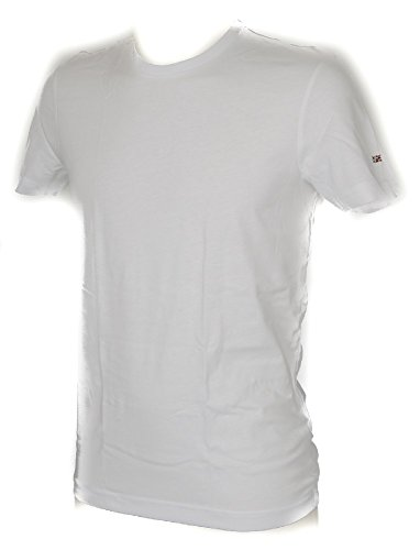 De Courtes N0y9vw 002 2 Rond Bianco Bright Manches Napapijri White Lot Col shirt Homme T Article BT5qa