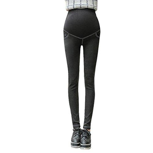 Zhhlinyuan Maternidad Pencil Pants Trousers Pregnancy Skinny Denim Jeans Pants Leggings White&black