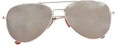 Forum Novelties Mirrored Police Glasses Costume Accessory, Silver, One Size