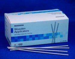 APPLICATOR PLAIN WOOD 6'' 1000EA/BX 20BX/CS MCK BRAND