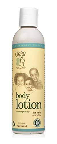 CARA B Naturally Body Lotion For Baby, and Child – Light Sensitive Skin Moisturizer Eczema-Friendly Formula Contains Shea Butter, Jojoba Oil – 8 Ounces