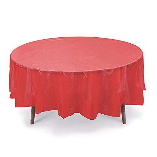 GiftExpressions 12-Pack Party Disposal Premium Plastic Tablecloth 84