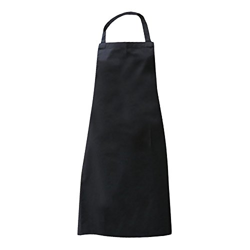 Bib Apron Economy (Dennys Ladies/Womens Economy Bib Workwear Apron With Pocket (One Size) (Black))
