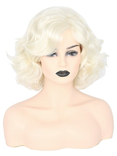 Womens Hair Wigs Blonde Wig Short Curly Halloween 80s Costume Cosplay Wig for Women Girls ()