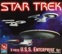 ARC Mountain Star Trek 3 Piece U.S.S. Enterprise Set 1701...