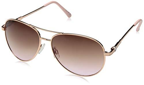 Steve Madden Women's Sm492134 SM492134 Aviator Sunglasses, Rose Gold, 60 mm