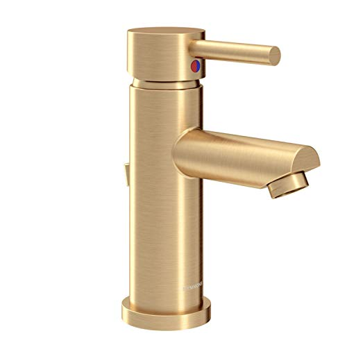 Symmons SLS-3512-BBZ-1.5 Dia Single Hole Single-Handle Bathroom Faucet with Drain Assembly in Brushed Bronze (1.5 GPM)