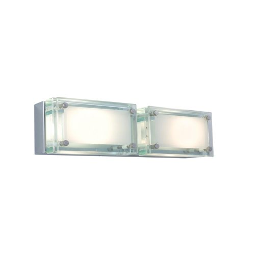 - Jesco Lighting WS307H-2GL Bric Line Voltage Series 307 2-Light Wall Sconce, Glass