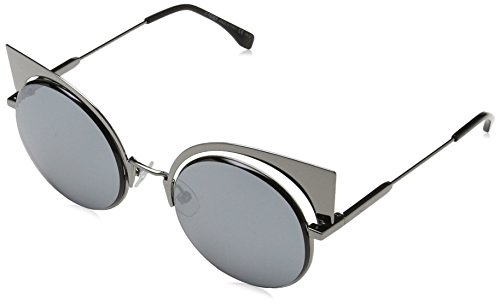Fendi FF0177/S KJ1T4 Gunmetal FF0177/S Round Sunglasses Lens Category 3 Lens - Sunglasses Fendi Round