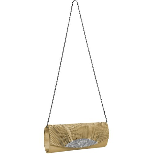 Clutch colours Womens Evening Rhinestones Bag TA289 many Champagne Satin Gorgeous with CASPAR UfwzEHUq