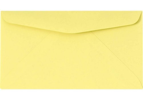 #6 3/4 Reply Business Envelopes - 50 Per Pack (Pastel Canary)