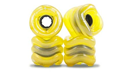 Shark Wheel California Roll 60mm 78A Small Longboard Wheels, Transparent Amber