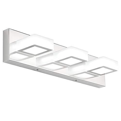 Ralbay Modern LED Vanity Light 3 Light Acrylic Stainless Steel for Bathroom Vanity Lighting Fixtures Cool White 6000K