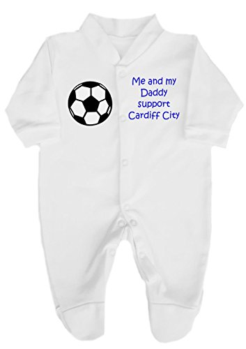 Me and My Daddy Support Cardiff City Football Babygrow //Sleepsuit