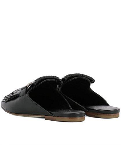 pour noires cuir XXW79A0X590G0CB999 en Sandales femmes Tod's fwF4CqC