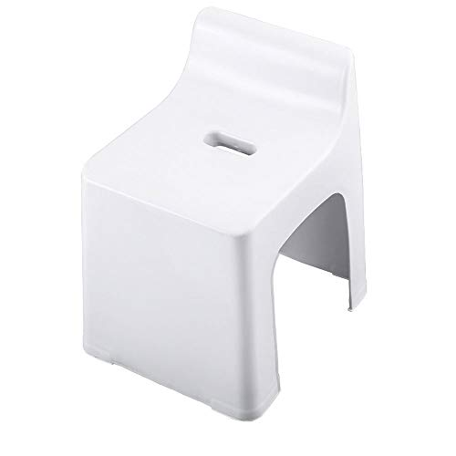 Economy Chair Stack - WH Small Stool Home Low Stool Fashion Bench Creative backrest Plastic Children Thickening Baby Non-Slip Bathroom Economy (Color : White)