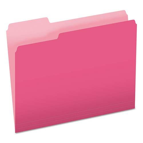 Amazoncom Colored File Folders 13 Cut Top Tab Letter Pink