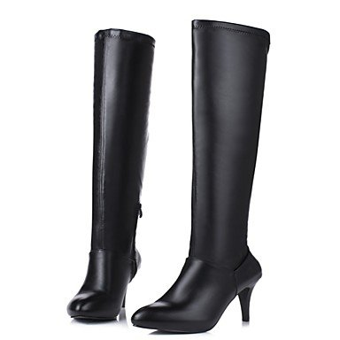 RTRY Women'S Shoes Customized Materials Leatherette Fall Winter Riding Boots Fashion Boots Boots Stiletto Heel Pointed Toe Thigh-High Boots US4-4.5 / EU34 / UK2-2.5 / CN33
