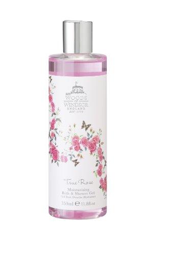Woods of Windsor Moisturizing Bath & Shower Gel for Women, True Rose, 11.8 Ounce