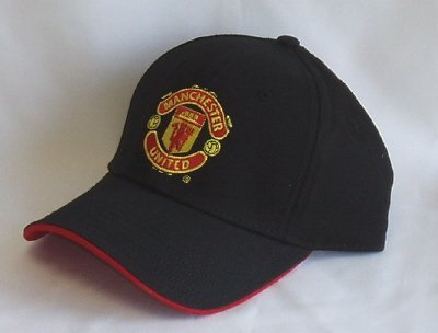 Manchester United FC - Official Crest Baseball Cap Black