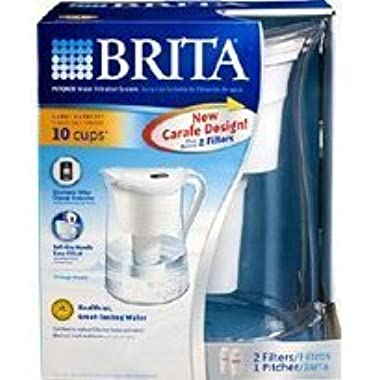 Brita Water Filtration System Kit: 1 Pitcher (Large Capacity) Plus 2 Filters